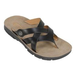 Women's Cliffs by White Mountain Banksy Thong Sandal Black Smooth Synthetic