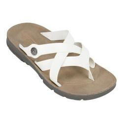 Women's Cliffs by White Mountain Banksy Thong Sandal White Smooth Synthetic