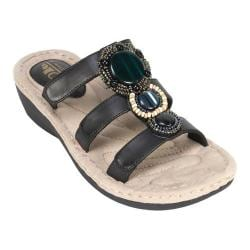 Women's Cliffs by White Mountain Coldspring Slide Sandal Black Burnished Smooth Synthetic