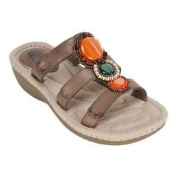 Women's Cliffs by White Mountain Coldspring Slide Sandal Stone Burnished Smooth Synthetic