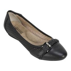 Women's Cliffs by White Mountain Jelly Ballet Flat Black Smooth Synthetic