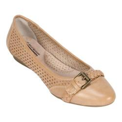 Women's Cliffs by White Mountain Jelly Ballet Flat Natural Smooth Synthetic