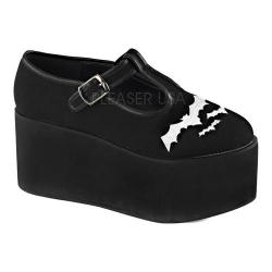 Women's Demonia Click 04-2 T-Strap Black Canvas