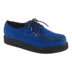 Men's Demonia Creeper 602S Royal Blue Suede