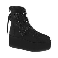 Women's Demonia Grip 101 Ankle Boot Black Canvas