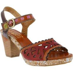 Women's L'Artiste by Spring Step Acela Ankle Strap Sandal Camel Multi Leather