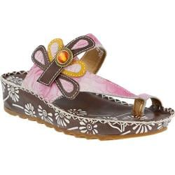 Women's L'Artiste by Spring Step Dafine Sandal Brown Multi Leather
