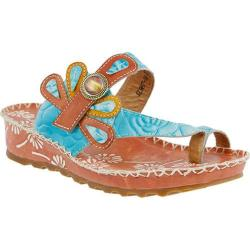 Women's L'Artiste by Spring Step Dafine Sandal Peach Multi Leather