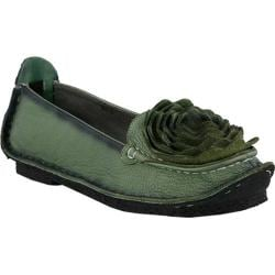 Women's L'Artiste by Spring Step Dezi Slip-On Green Leather