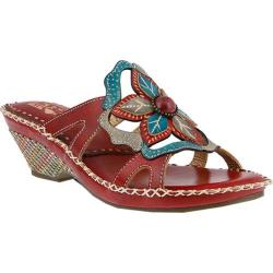 Women's L'Artiste by Spring Step Enah Slide Red Multi Leather