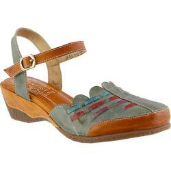 Women's L'Artiste by Spring Step Erja Closed Toe Sandal Olive Multi Leather