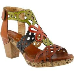 Women's L'Artiste by Spring Step Imani Ankle Strap Sandal Camel Multi Leather