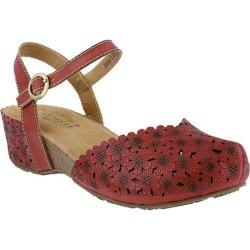Women's L'Artiste by Spring Step Livvy Closed Toe Sandal Red Leather