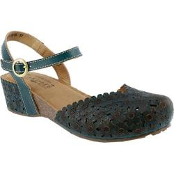 Women's L'Artiste by Spring Step Livvy Closed Toe Sandal Teal Leather