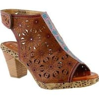Women's L'Artiste by Spring Step Marjan Sandal Camel Multi Leather