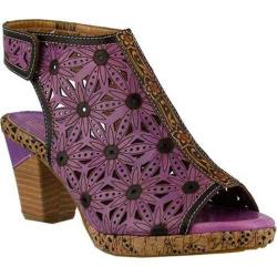 Women's L'Artiste by Spring Step Marjan Sandal Purple Multi Leather