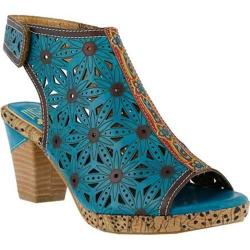 Women's L'Artiste by Spring Step Marjan Sandal Turquoise Multi Leather
