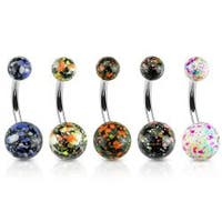 Splatter Ball 316L Surgical Steel Navel Belly Button Ring