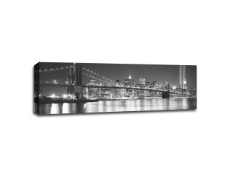 Brooklyn Bridge at Night B&W - Thumbnail 0