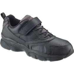 Men's Apex Athletic Strap Sneaker Black Leather/Mesh
