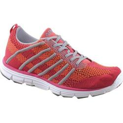 Women's Apex Breeze Athletic Knit Lace Up Sneaker Pink Knit