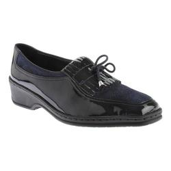 Women's ara Rachel 41121 Navy Patent/Pin Dot