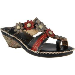 Women's L'Artiste by Spring Step Peeps Sandal Black Multi Leather