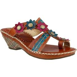 Women's L'Artiste by Spring Step Peeps Sandal Camel Multi Leather