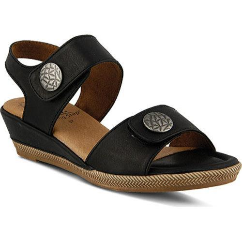 Women's Spring Step Magali Quarter Strap Sandal Man-made Black