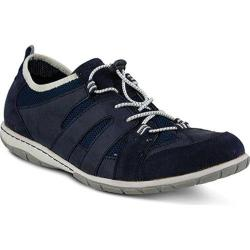Women's Spring Step Detta Lace Up Shoe Navy Manmade