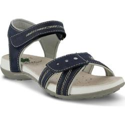 Women's Spring Step Maluca Ankle Strap Sandal Navy Manmade