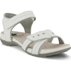 Women's Spring Step Maluca Ankle Strap Sandal White Manmade
