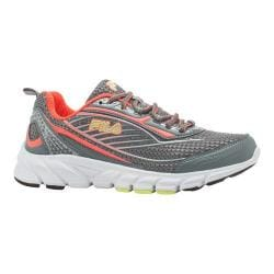 Women's Fila Fila Forward 2 Running Shoe Pewter/Fiery Coral/Safety Yellow