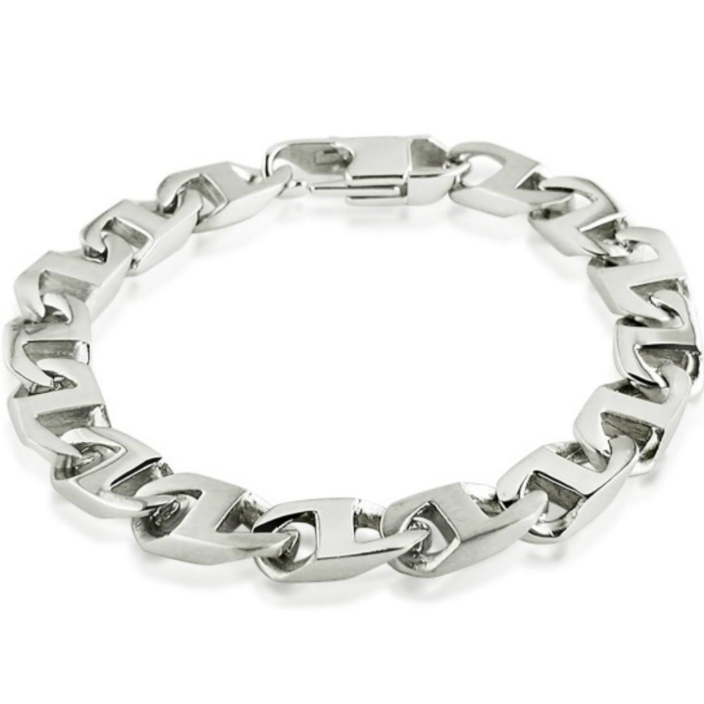 Oxford Ivy Men's Stainless Steel Mariner Link Bracelet 8 1/2 inch