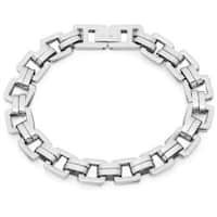 Oxford Ivy Mens Square Link Stainless Steel Bracelet 8 /4 inch