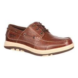 Men's Georgia Boot GB00077 Tybee Island Boat Style Steel Toe Oxford Soggy Brown Full Grain Leather