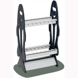 Wealers 16-rod Rack Fishing Rod Holder Organizer Bait Lures Fish Tackle,