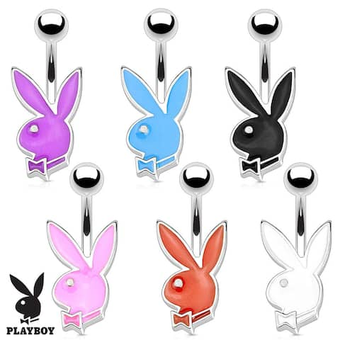 Playboy Bunny 316L Surgical Steel 16G Petite Navel Belly Button Ring