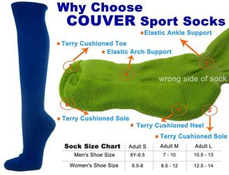 Blue Couver Knee High Unisex Sports Athletic Baseball Softball Socks(2 Pairs)