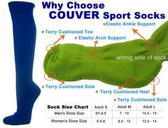 Blue Couver Knee High Unisex Sports Athletic Baseball Softball Socks(2 Pairs)|https://ak1.ostkcdn.com/images/products/100/751/P18483856.jpg?impolicy=medium