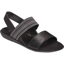 Women's A2 by Aerosoles Savant Sandal Black Combo Faux Leather/Elastic