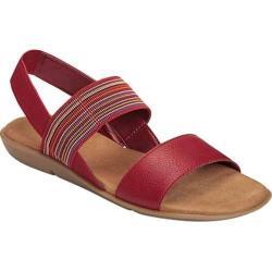Women's A2 by Aerosoles Savant Sandal Red Combo Faux Leather/Elastic