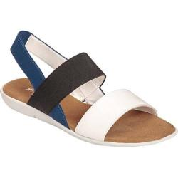 Women's A2 by Aerosoles Savant Sandal White Combo Faux Leather/Elastic