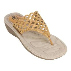 Women's Cliffs by White Mountain Cameo Thong Sandal Honey Smooth Synthetic