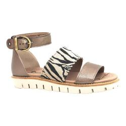 Women's Dromedaris Allison Quarter Strap Sandal Graphite Soft Goat Leather
