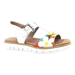 Women's Dromedaris Ana Sandal White Soft Goat Leather
