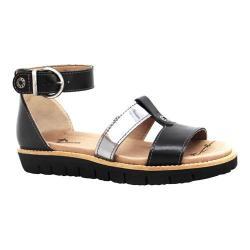 Women's Dromedaris Anita Ankle Strap Sandal Black Soft Goat Leather