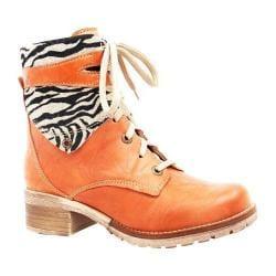 Women's Dromedaris Kara Safari Lace Up Boot Brick Soft Waxy Leather/Suede