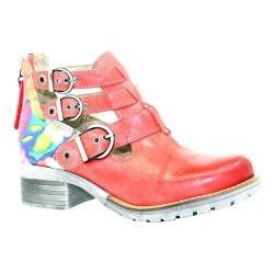 Women's Dromedaris Kelsy Flower Buckle Boot Coral Soft Waxy Leather/Suede