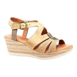 Women's Dromedaris Liz Ankle Strap Sandal Beige Waxed Leather